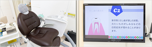 プライバシーに配慮した個室の診療室2
